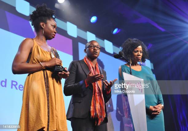 Kim Wayans Nekisa Cooper and Adepero Oduye speak onstage at the 23rd Annual GLAAD Media Awards presented by Ketel One and Wells Fargo at Marriott...