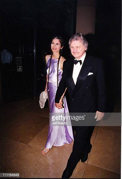 Kim Weeks and Charles Bronson during Achievement Awards '98 in Beverly Hills, California, United States.