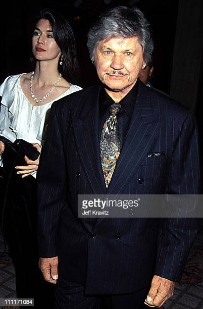 """Kim Weeks and Charles Bronson during """"Sunset Blvd"""" Los Angeles Premiere in Los Angeles, California, United States."""