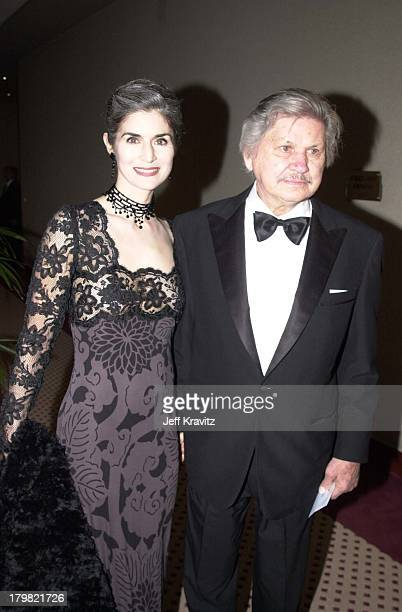 Kim Weeks & Charles Bronson during Carousel Ball 2000 in Beverly Hills, California, United States.