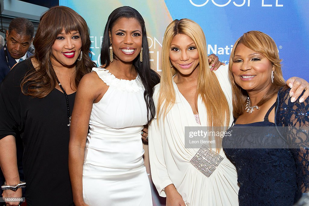 Kim Whitley, Omarosa, Tamara Braxton and Evelyn Braxton arrives at the BET Network's 13th Annual 'Celebration of Gospel' at Orpheum Theatre on March 16, 2013 in Los Angeles, California.