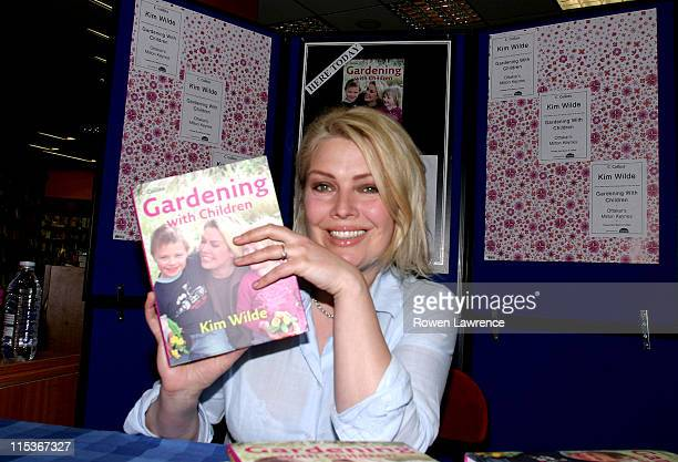 Kim Wilde during Kim Wilde Signs Her Book Gardening with Children at Ottakar's Book Store in Milton Keynes at Ottakar's Book Store in Milton Keynes...