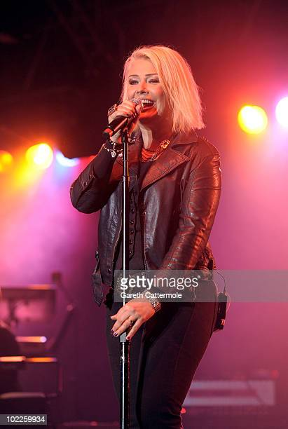Kim Wilde performs at the Isle Of Man Bay Festival on June 20 2010 in Douglas Isle Of Man