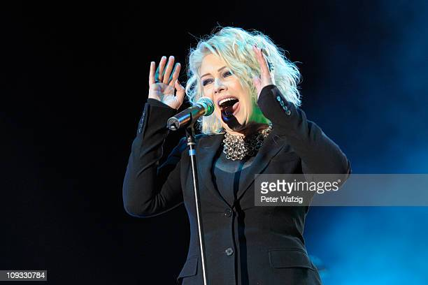 Kim Wilde performs on stage at the Musical Dome on February 21 2011 in Cologne Germany