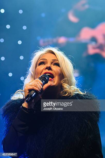 Kim Wilde performs on stage for Magic Sparkle Gala at Indigo2 at O2 Arena on December 3 2013 in London United Kingdom