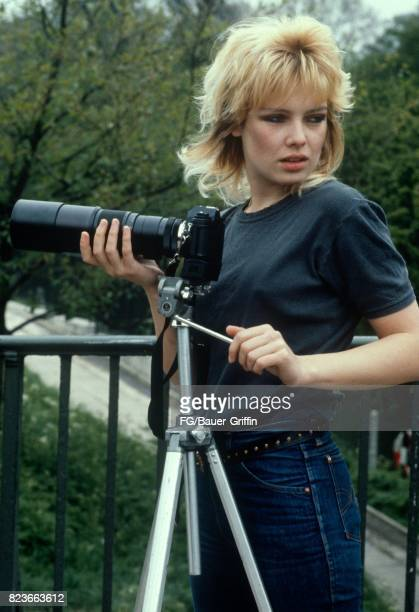 Kim Wilde with her camera on the balcony of her appartment on March 14 1980 in London United Kingdom 170612F1
