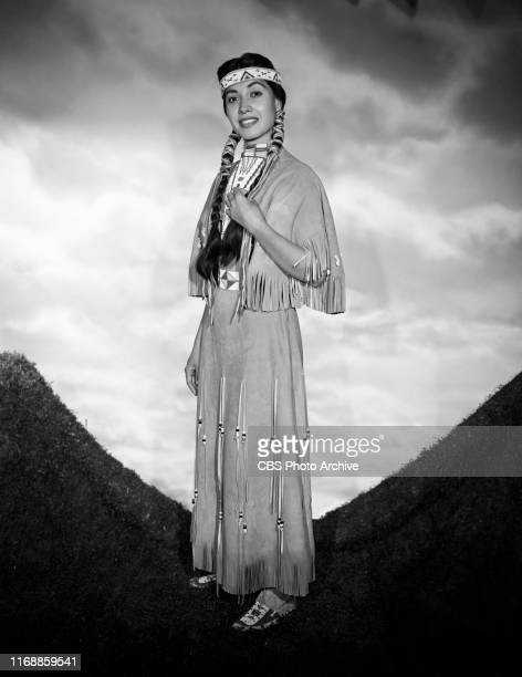 Kim Winona portrays Morning Star a Native American in the CBS television western Brave Eagle Image dated November 18 1955