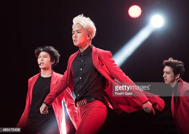 Kim Wonsik of VIXX performs at the 2015 KPop Festival at Prudential Center on August 8 2015 in Newark New Jersey