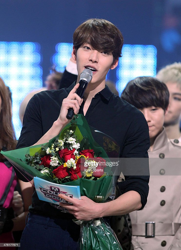 Kim Woo-Bin speaks during the Mnet 'M Count Down' at CJ E&M Center on February 13, 2014 in Seoul, South Korea.