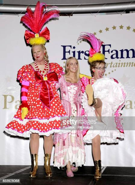 Kim Woodburn Laura Hamilton and Aggie McKenzie during a photocall to launch First Family Entertainment's The National Launch for this year's...