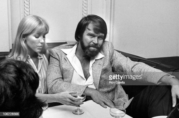 Kim Woolen and Glen Campbell during Friars Club Benefit - June 1, 1981 at Savoy in New York City, New York, United States.