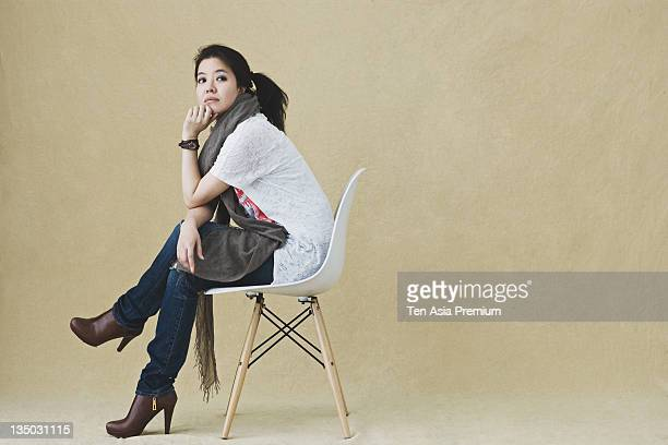 Kim YeoJin poses for photographs on April 5 2011 in Seoul South Korea