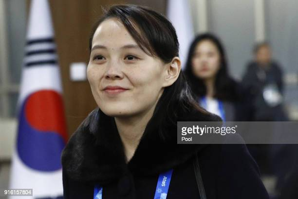 Kim Yo Jong sister of North Korean leader Kim Jong Un arrives at the opening ceremony of the PyeongChang 2018 Winter Olympic Games at PyeongChang...
