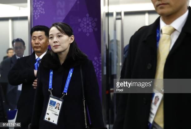 Kim Yo Jong sister of North Korean leader Kim Jong Un arrives at the opening ceremonyy of the PyeongChang 2018 Winter Olympic Games at PyeongChang...