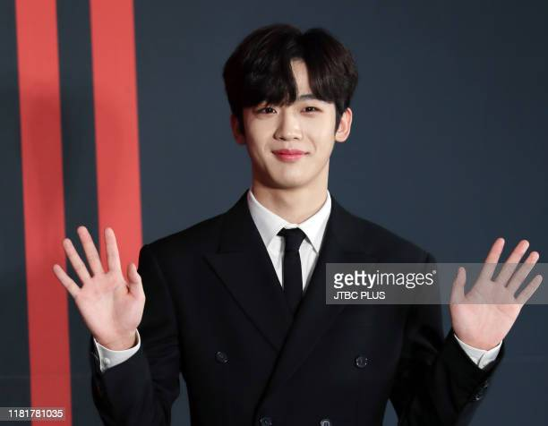Kim Yohan of X1 attends the 1st Mini Album QUANTUM LEAP Showcase at Gocheok Skydome on August 26 2019 in Seoul South Korea