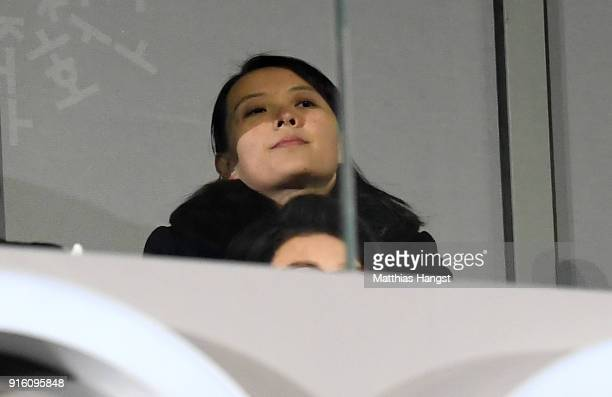 Kim Yojong attends during the Opening Ceremony of the PyeongChang 2018 Winter Olympic Games at PyeongChang Olympic Stadium on February 9 2018 in...