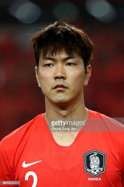 Kim Young-Gwon of South Korea during the international friendly match between South Korea and Honduras at Daegu World Cup Stadium on May 28, 2018 in...