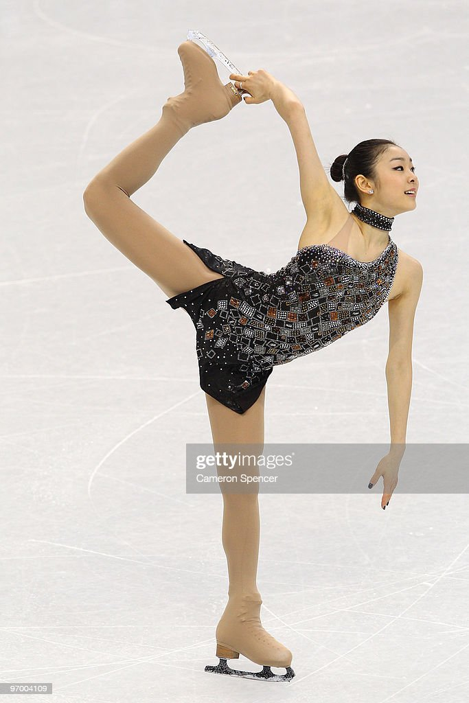 Kim Yu-Na of South Korea competes in the Ladies Short Program Figure Skating on day 12 of the 2010 Vancouver Winter Olympics at Pacific Coliseum on February 23, 2010 in Vancouver, Canada.