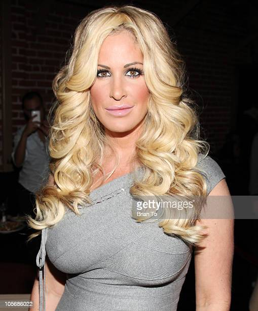 Kim Zolciak attends Jeffrey Sanker's White Party screening for Bravo's Real Housewives of Atlanta at Eleven NightClub on October 18 2010 in West...