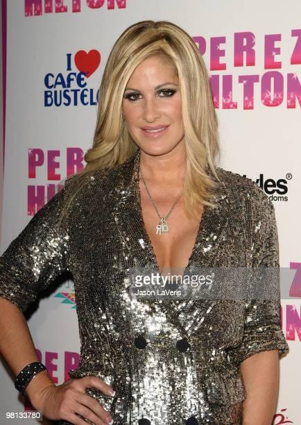 Kim Zolciak attends Perez Hilton's 'CarnEvil' Theatrical Freak and Funk 32nd birthday party at Paramount Studios on March 27 2010 in Los Angeles...