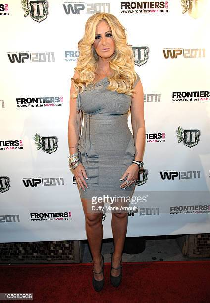 Kim Zolciak attends Real Housewives of Atlanta viewing party hosted by Kim Zolciak at Eleven NightClub on October 18 2010 in West Hollywood California