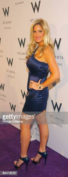 Kim Zolciak attends the grand opening of the W Atlanta Buckhead Hotel on January 22 2009 in Atlanta