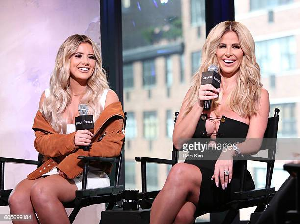 Kim ZolciakBiermann and Brielle Biermann discuss the 5th season of Don't be Tardy and Kim's skincare line Kashmere Collection at AOL BUILD Series at...