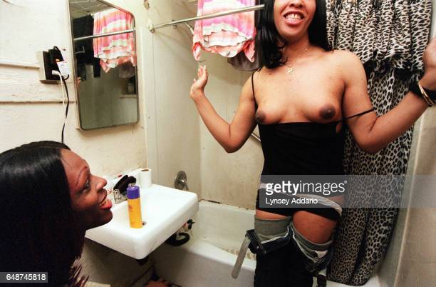 Kima flaunts her growing breasts while she and Charisse prepare for work in New York City in 1999 Kima and her roommates like many other...
