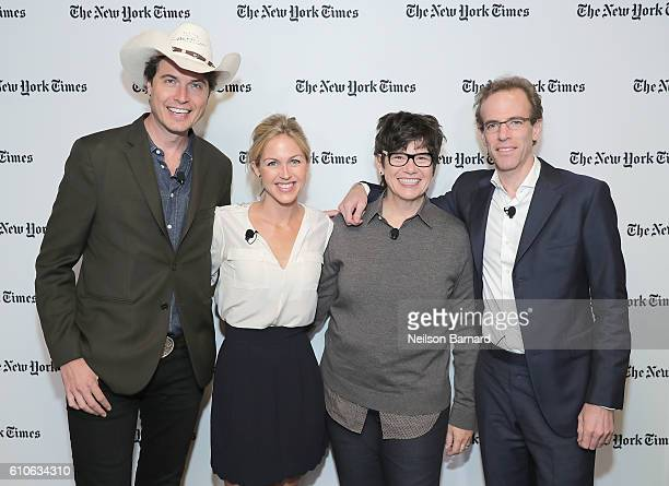 Kimbal Musk, Elly Truesdell, Kim Severson and Sam Barber attend the New York Times Food For Tomorrow Conference 2016 on September 27, 2016 in...