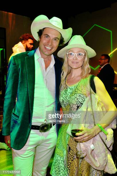 Kimball Musk and Christiana Wyly attend the LA Premiere of 'The Game Changers' After Party at the Sunset Club on September 04 2019 in Hollywood...