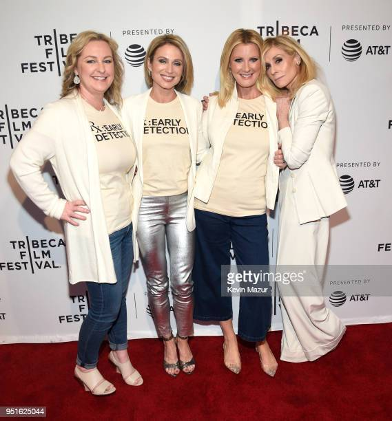 """Kimber Lee, Amy Robach, Sandra Lee and Judith Light attend the HBO Documentary Film """"RX: Early Detection A Cancer Journey With Sandra Lee"""" during The..."""