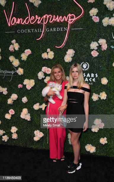 Kimber Sissons and Mason Grammar attend the grand opening of Vanderpump Cocktail Garden at Caesars Palace on March 30 2019 in Las Vegas Nevada