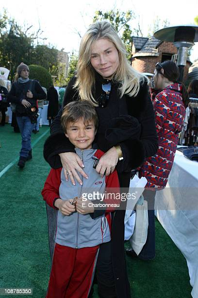 Kimber Sissons and son Dylan during Showtime Hosts the Annual PreGolden Globes Gift House Day 1 at The Cooley Estate in Los Angeles CA United States