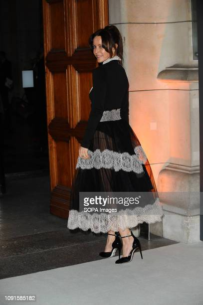 Kimberleigh Gelber attends the Christian Dior Designer of Dreams fashion exhibition supported by Swarovski at the VA Museum London