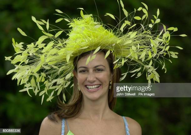 Kimberley Cowell arrives at the Royal Ascot racecourse for the five day meeting which starts today