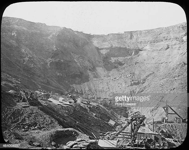 Kimberley diamond mine South Africa c1890 From a series of lantern slides on the South African diamond and gold mines