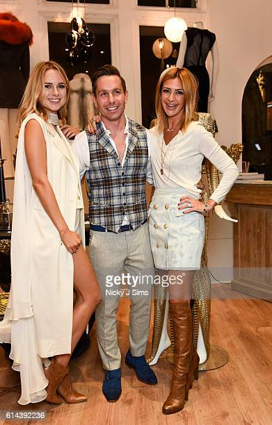 Kimberley Garner Ali Samli and Basak Ozbek attend the ConSept Charity Shopping Event in London at ConSept King's Road on October 13 2016 in London...