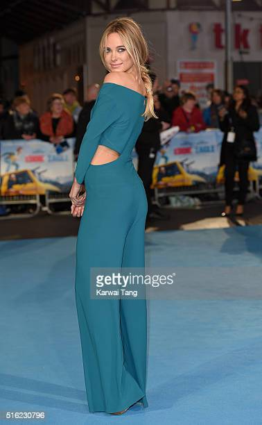 Kimberley Garner arrives for the European premiere of 'Eddie The Eagle' at Odeon Leicester Square on March 17 2016 in London England