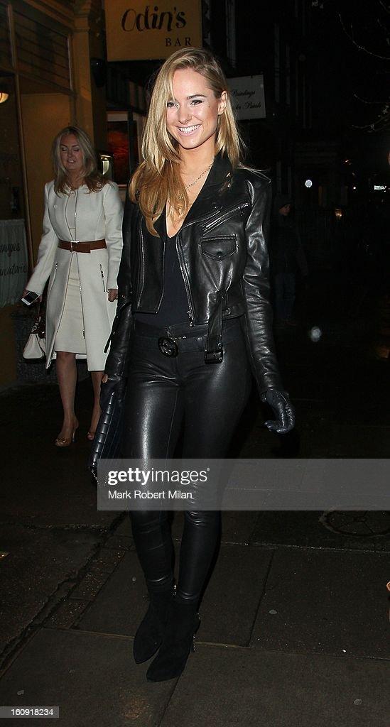 Kimberley Garner at the Imitate Modern Gallery on February 7, 2013 in London, England.