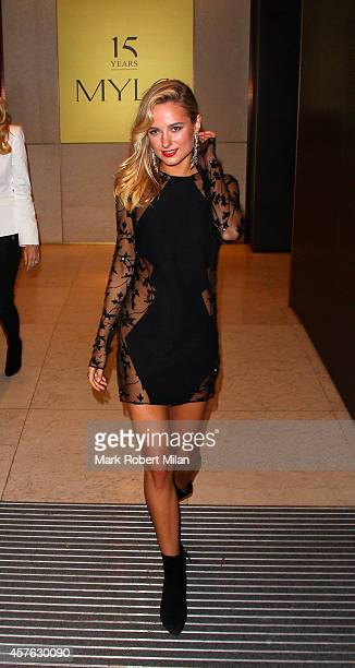 Kimberley Garner attending the Myla 15th Anniversary celebration on October 21 2014 in London England