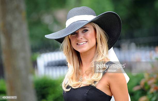 Kimberley Garner attends Day 3 of Royal Ascot at Ascot Racecourse on June 19 2014 in Ascot England