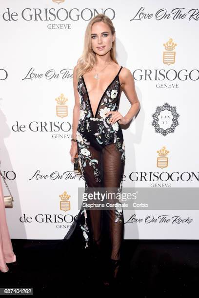 Kimberley Garner attends DeGrisogono Love On The Rocks during the 70th annual Cannes Film Festival at Hotel du CapEdenRoc on May 23 2017 in Cap...