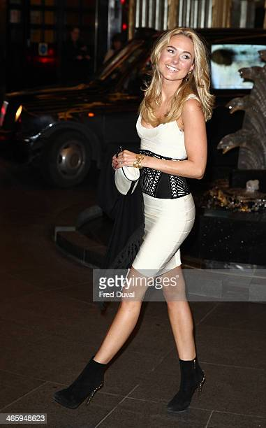 Kimberley Garner attends 'Kate Moss At The Savoy' an exhibition of never before seen photographers of Kate Moss at The Savoy Hotel on January 30 2014...