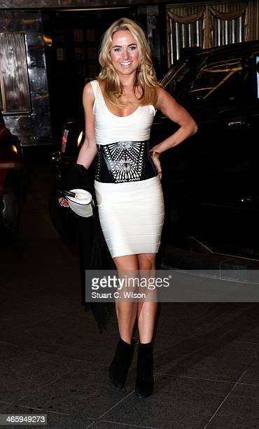 Kimberley Garner attends 'Kate Moss At The Savoy' an exhibition of never before seen photographies of Kate Moss at The Savoy Hotel on January 30 2014...