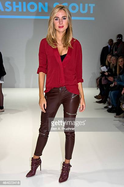 Kimberley Garner attends the Apu Jan show during London Fashion Week Fall/Winter 2015/16 at on February 21 2015 in London England