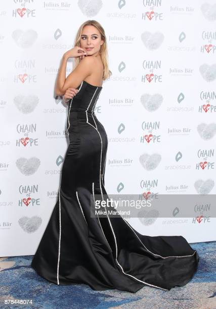 Kimberley Garner attends the Chain Of Hope Gala Ball held at Grosvenor House on November 17 2017 in London England