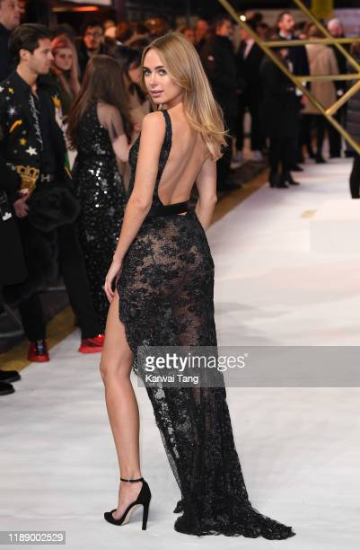 Kimberley Garner attends the Charlie's Angels UK Premiere at The Curzon Mayfair on November 20 2019 in London England