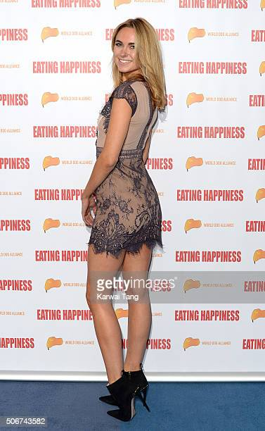 Kimberley Garner attends the Eating Happiness VIP screening at the Mondrian Hotel on January 25 2016 in London England