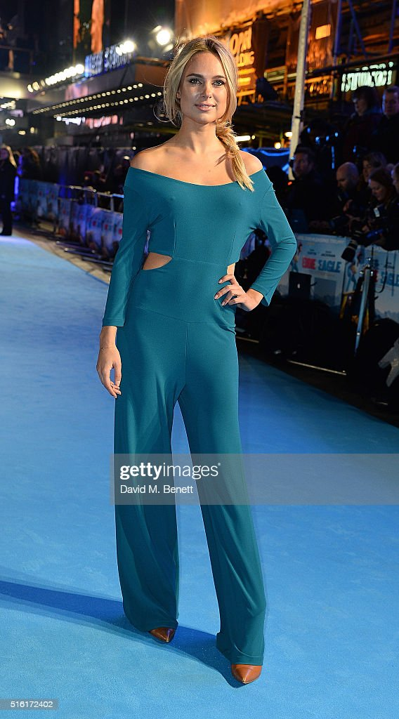 Kimberley Garner attends the European Premiere of 'Eddie The Eagle' at Odeon Leicester Square on March 17, 2016 in London, England.