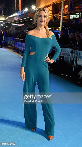 Kimberley Garner attends the European Premiere of Eddie The Eagle at Odeon Leicester Square on March 17 2016 in London England